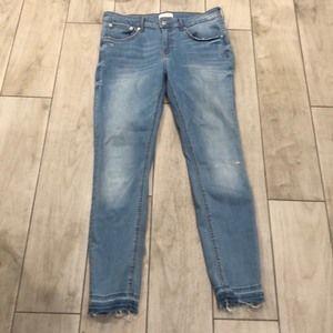 Zara woman Premium Denim Collection stretchy crop